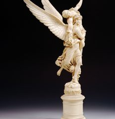 Marius-Jean-Antonin Mercie ( 1845-1916), After. Ivory figure of Gloria Victoria. French, Ca. 1880. 46.5 cm. Inv. #201