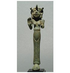 Ugarit bronze statue of the goddess Anat. 14th – 13th Centuries BC.