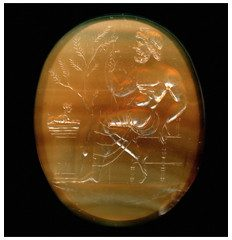 Large & Important early Roman sard intaglio of Odysseus. later 1st Century AD.