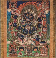 Thangka of Six Armed Mahakala