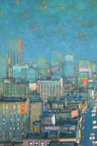 "Mark Horton ""Aerial View of City at Evening"""