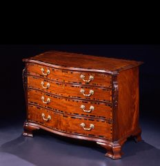 George III Mahogany Serpentine Chest of Drawers, circa 1760