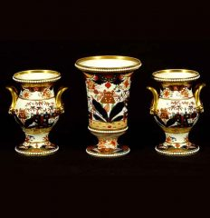 Three Piece Spode Garniture, circa 1815