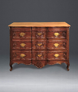Belgian, 18th Century, Oak, Three-Drawer Commode