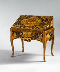 18th Century German Bureau with 17th Century Marquetry by Antonio and Luccio de Lucci of Venice