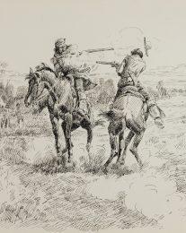 Kit Carson – Horseback Duel, c. 1922
