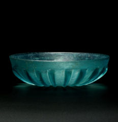 roman glass ribbed bowl