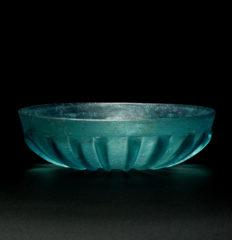 roman glass ribbed bowl