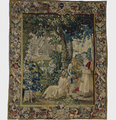 June, or Cherry Picking from a set of tapestries depicting the Twelve Months, Flemish ca. 1700