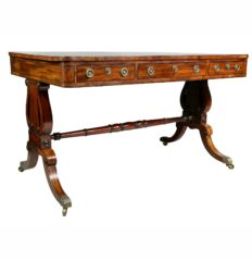 Regency-Mahogany-and-Ebonized-Writing-Table