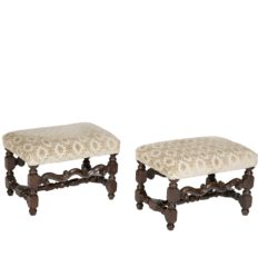 Pair-of-Italian-Baroque-Walnut-Benches