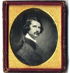 Southworth & Hawes (attrib) – Portrait of George P.A. Healy after a Self-Portrait in Oil – Daguerreotype, ca. 1845